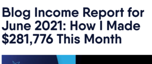 Adam Enfroy - Blog Income report