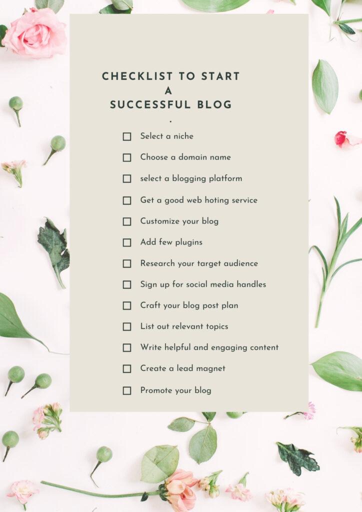 Successful Blog Checklist