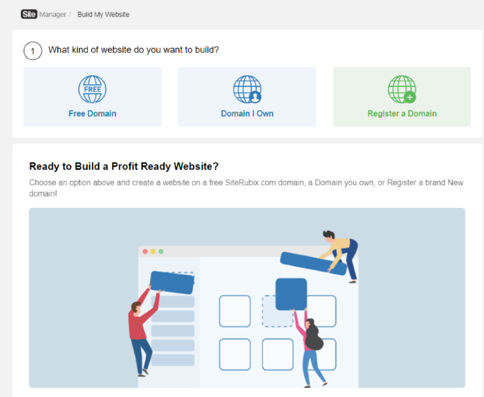 Choose the website you want to build
